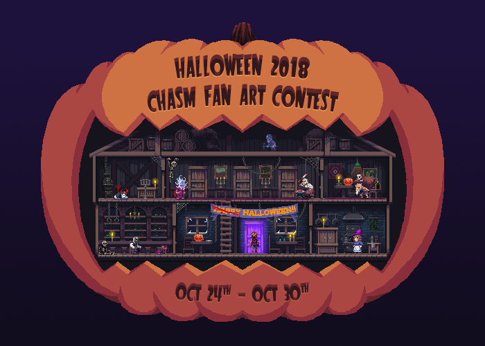 Halloween 2018 Fan Poster.Halloween 2018 Fan Art Contest Bit Kid Inc